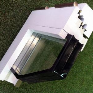 Acristalamiento doble con cámara de aire 3+3,12,4+4 con recubrimiento bajo emisivo en la cara interior del vidrio.